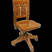 Oak Secretary Office Chair
