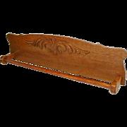 Oak Towel Bar / Quilt Rack Re Purposed from Antique Back Splash