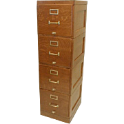 Oak File Cabinet Stacking Units by Shaw Walker