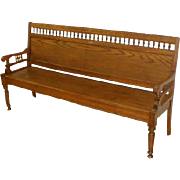 19th Century Railroad Station Bench