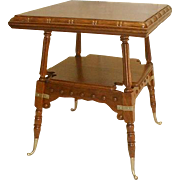 Merklen Brothers Oak Lamp Table
