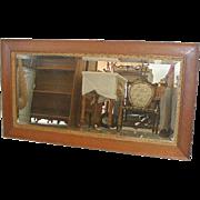 Oak Framed American Beveled Mirror 1905