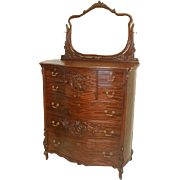 Mahogany Victorian Chest of Drawers by R J Horner