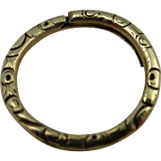 Engraved split ring for use with bracelets or chains