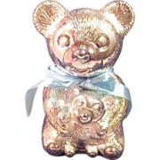 REDUCED Adorable Teddy Bear Bank - Silver Plated