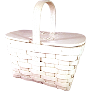 SALE Charming Small Easter/Picnic Basket