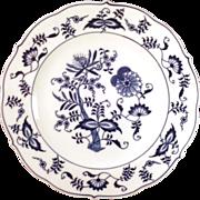 "SALE Classic Blue Danube ""Blue Onion"" Dinner Plate - Original Patent"