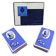 "SALE Russell Gladstone ""Hunter & Bird Dog"" Canasta - Double Deck"