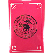 "SOLD Unopened ""Elephant"" Playing Card Deck - Shanghai, China, 1940's"