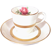 REDUCED Lovely Warwick China Demitasse Cup and Saucer