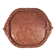REDUCED Beautiful Wooden Bird Dog Plaque