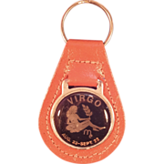 Vintage Virgo Key Chain
