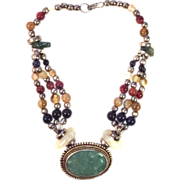 SALE Ethnic/Tribal Precious Stone Necklace