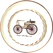 REDUCED Wonderful Collector's Car Plate by Georgian China Limited
