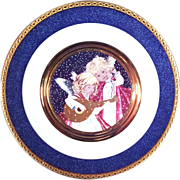 SALE Beautiful Angel Plate Enhanced with 24KT Gold
