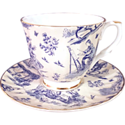 """SALE Staffordshire """"Royale Garden"""" Bone China Cup and Saucer"""