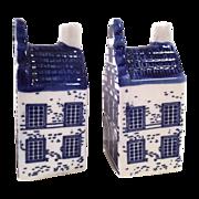 SALE Vintage Delfts Blue Salt and Pepper Shakers