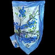 SALE Vera Blue Cherry Blossom  Special Edition 100% Silk Scarf