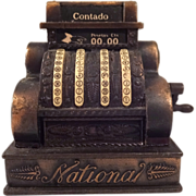 "Vintage Play Me ""Contado"" Cash Register Pencil Sharpener Ref. 964"