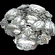 "Native American Conch Belt Sterling Silver 37"" Vintage Unsigned 1139 U"