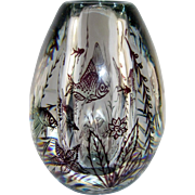 Orrefors Fish Graal Vase, Rare Purple Sea Creatures, Jellyfish, Star Fish, Shells, Edward Hald