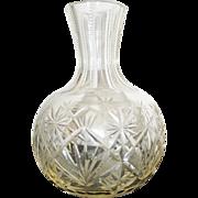 REDUCED Brilliant Cut Glass Pitcher Vase