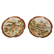 Exquisite Meiji Period Japanese Satsuma Small Plates