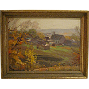 Oil Painting Pastoral Landscape Scene by Paul T. Sargent (1890-1946)