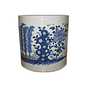 SOLD Antique Chinese Large Blue & White Porcelain Bitong