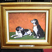 Vintage Original Ruth Duncan Oil on Board (pets) - Colorado/Texas Artist