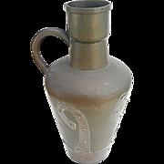 Vintage Russian Arts and Crafts Brass jar/ewer circa 1935