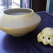 1915 Van Briggle Pottery Bowl – Design 268B – Rare mustard yellow Color
