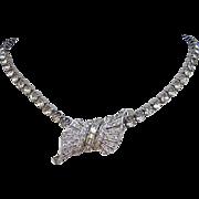 1953 MARCEL BOUCHER Diamond Like Rhinestones Numbered Pin / Pendant / Necklace Enhancer
