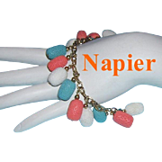 1960's NAPIER Commanding Colorful Dangling Bracelet