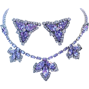 WEISS Color Changing Periwinkle /LAVENDER Rhinestone Rarely Seen Decadent SHOW STOPPING ...