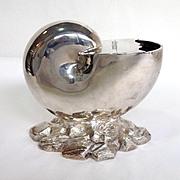Victorian Silverplate Shell  Shape Spoon Warmer