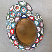Italian Micro Mosaic Oval Frame Small Size