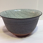 Japanese Pottery Bowl Handmade Signed