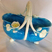Minton Majolica Basket Dated 1873