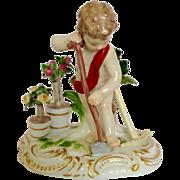 Meissen Putti Cherub Gardener Porcelain Figure