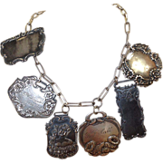 Luggage Tag Necklace Sterling Chain