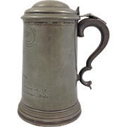 Pembroke College Pewter Stein Inscribed 1868