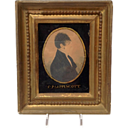 Gentleman's  Portrait Miniature of C.P. Lippincott