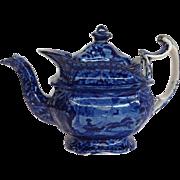 Staffordshire Transferware Teapot C. 1820