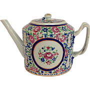 Chinese Export Rose Design Tea Pot C. 1790