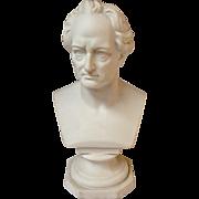 German Parian Bust Of Goethe 19th C.