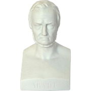 German Parian Bust 'Arndt' 19th C.