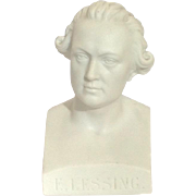 German Parian Bust 'E. Lessing' 19th C.