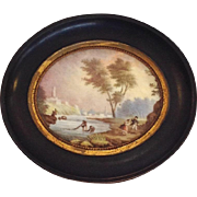 Porcelain Plaque Hand Painted Landscape 19thc.