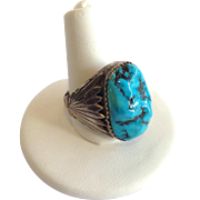 Turquoise Ring Sterling Size 10